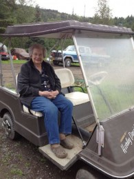 Getting around the farm when you are 93.