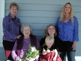 Five Generations of great women - Rita Jo, Evelyn, Sabrina, Chelsey and Isabella