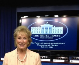 Rita Jo was invited to the White House for the Champions Of Change for the Future of Agriculture.